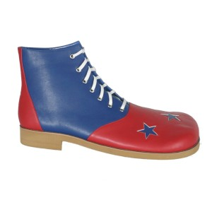 Red And Blue With Stars Clown Adult Shoes - Red / Up to size men's 13