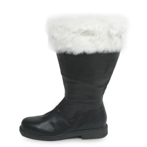 Santa Adult Boots - Black / Large (12-13)