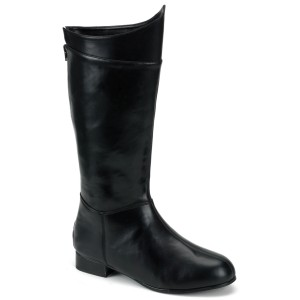 Super Hero Black Adult Boots - Black / Small 8-9