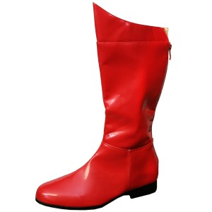 Super Hero Red Adult Boots - Red / Medium (10-11)