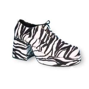 Zebra Platform Adult Shoes - Black / Medium (10-11)