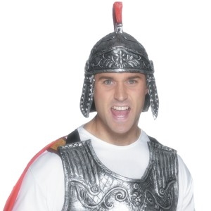 Roman Knight Armour Helmet Adult Rubber - Gray / One Size