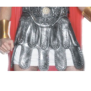 Roman Armour Skirt Adult Rubber - Gray / One Size