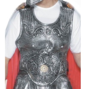 Roman Armour Breast Plate Adult Rubber - Gray / One Size