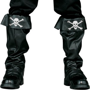 Pirate Boot Covers Adult - Black / One Size