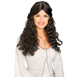 Arwen Wig - Lord of the Rings - Brown / One Size