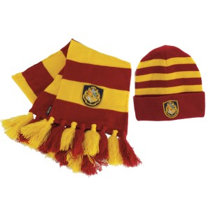 Harry Potter Hogwarts Hat & Scarf - Yellow / One-Size