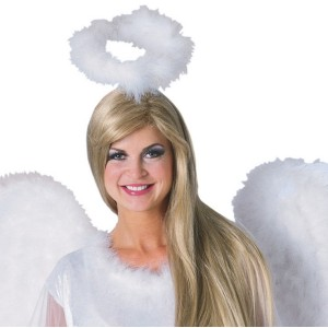 Marabou Feather Halo White - White / One Size