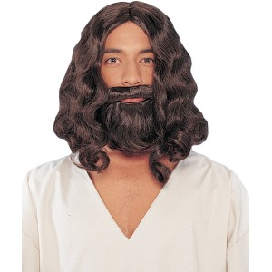 Biblical Brown Wig And Beard - Brown / One Size