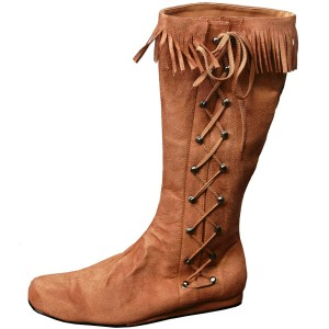 Indian Side Lace Adult Boot - Brown / Large (12-13)