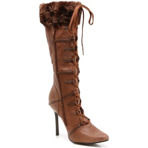 Sexy Viking Adult Boots - Brown / Small (7)