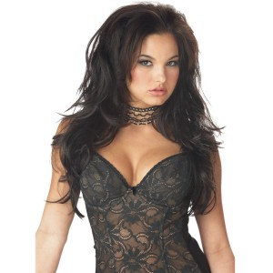 Seductress Brunette Hairpiece - Black