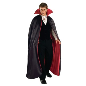 Reversible Deluxe Lined Vampire Cape RedBlack - Red / One Size