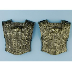 Gold Roman Chest Plate 2 Piece - Gold / One Size