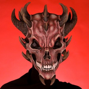 Devil Skull Mask - Red / One Size