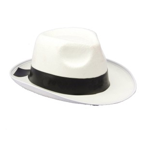 White Gangster Hat - White / One Size