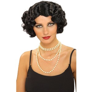 Flapper Wavy Wig Black - Black / One Size