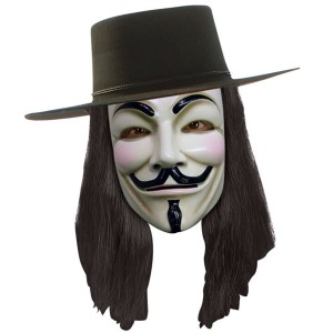 V for Vendetta Mask - Black / One Size