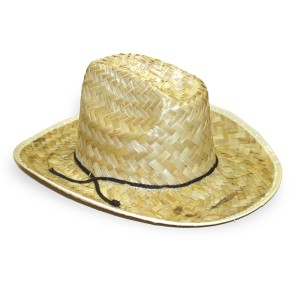 Straw Cowboy Hat - Brown / One-Size