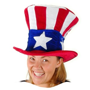 USA Uncle Sam Hat - Red/White/Blue / One-Size