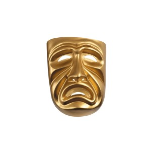 Gold Tragedy Mask - Gold / One Size