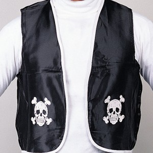 Pirate Adult Vest Black