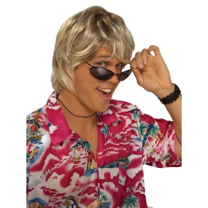Surfer Bum Wig Blonde - Yellow / One Size