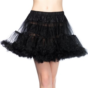 Layered Tulle Black Petticoat - Black / One-Size