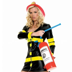 Inflatable Fire Extinguisher - Black / One Size