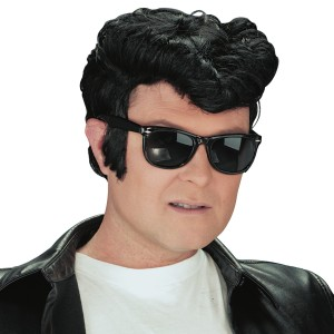 Greaser Wig Black - Black / One Size