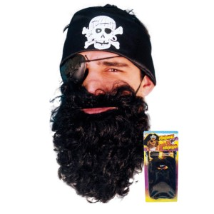 Black Pirate Beard - Black / One Size