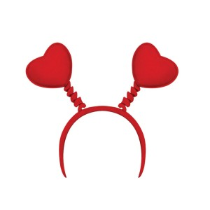 Heart Head Bopper - Red / One-Size