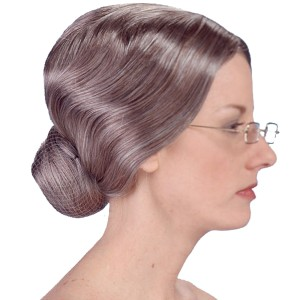 Deluxe Old Lady Wig - White / One Size