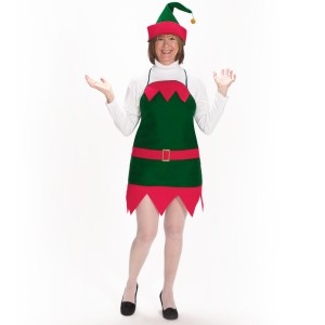 Elf Holiday Apron and Hat Adult - Green / One Size