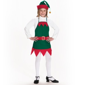 Elf Holiday Apron and Hat Child - Green / One Size