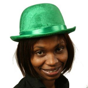 Green Felt Derby Hat - Green / One-Size