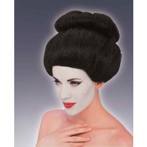 Geisha Wig Adult - Black / One Size