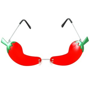 Rimless Chili Pepper Glasses - Red & Green / One-Size
