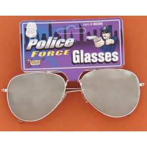 Police Mirrored Sunglasses - Silver / One Size