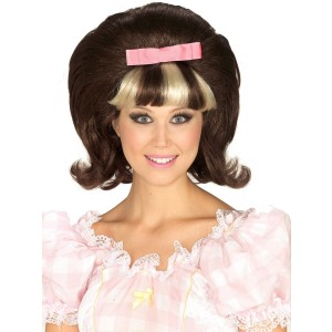 60's Princess BrownBlonde Combo Wig - Brown / One Size