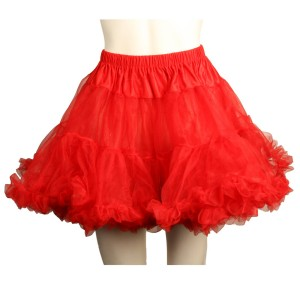 Layered Tulle Red Adult Petticoat - Red / One-Size