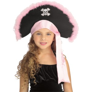 Girls Pirate Hat In Pink Child - Pink / One Size