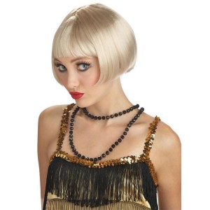 Flirty Flapper Wig - Blonde - Yellow / One Size