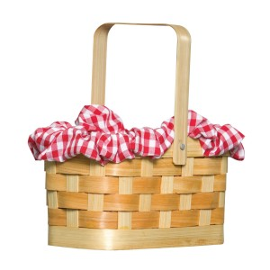 Gingham Basket - Brown / One Size