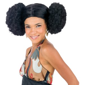 Afro Poof Wig Adult - Black / One Size