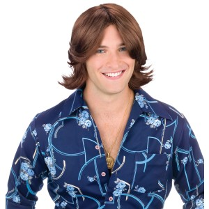 Ladies Man Brown Wig - Brown / One Size