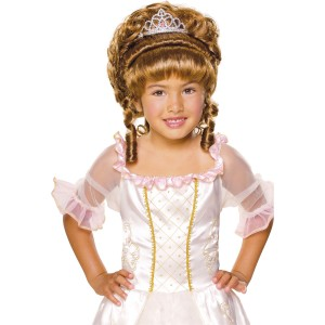 Brown Child Wig with Tiara - Brown
