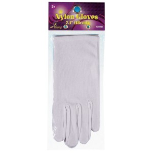 Theatrical White Child Gloves - One-Size