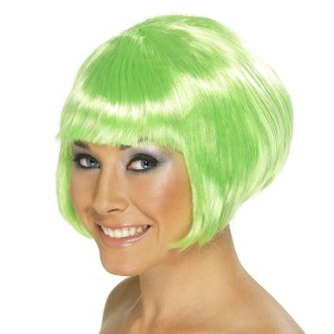 Short Bob Green Wig - Green / One Size