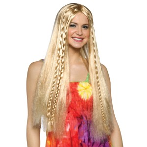Hippie Wig - Blonde - Yellow / One Size